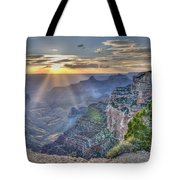 Sunset At Northern Rim Of The Grand Canyon Tote Bag