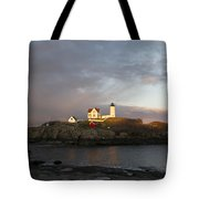 Sunset At Nubble Light Tote Bag