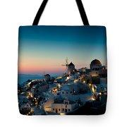 Sunset At Oia Tote Bag