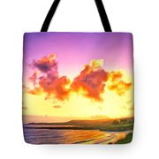 Sunset At Oneloa Beach Maui Tote Bag