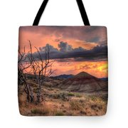 Sunset At Painted Hills In Oregon Tote Bag
