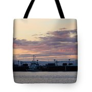 Sunset At Port Angeles Tote Bag