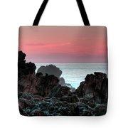 Sunset At Salt Point Tote Bag