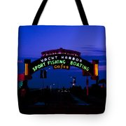 Sunset At Santa Monica Beach Pier Fine Art Photography Print Tote Bag