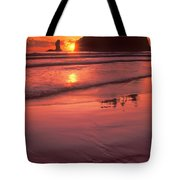 Sunset At Second Beach Olympic National Park Tote Bag