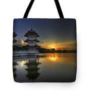 Sunset At Singapore Chinese Garden Tote Bag