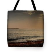 Sunset At The Beach Panorama Tote Bag