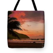 Sunset At The Beach - Puerto Lopez - Ecuador Tote Bag
