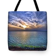 Sunset At The Cliff Beach Tote Bag by Ron Shoshani