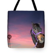 Sunset At The Farm Tote Bag