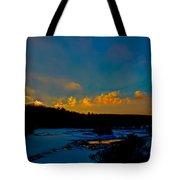 Sunset At The Green Bridge Tote Bag