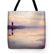 Sunset At The Hollering Place Tote Bag
