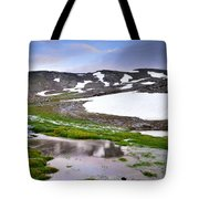 Sunset At The Lake At 3000 M. Hight Tote Bag