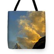 Sunset At The Matterhorn Switzerland Tote Bag