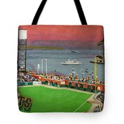 Sunset At The Park Tote Bag by Cory Still