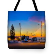 Sunset At The Post Tote Bag