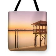 Sunset At Tybee Tote Bag