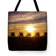 Sunset At Venice Beach Tote Bag