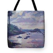 Sunset At Waterlot Tote Bag