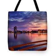 Sunset Balcony Of The West Palm Beach Skyline Tote Bag