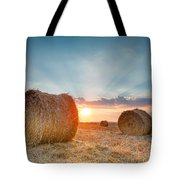 Sunset Bales Tote Bag by Evgeni Dinev