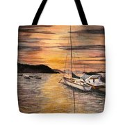 Sunset Bay Tote Bag