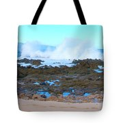 Sunset Beach Crashing Wave - Oahu Hawaii Tote Bag