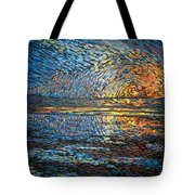 Sunset Before The Storm Tote Bag