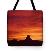 Sunset Behind Devil's Tower Tote Bag