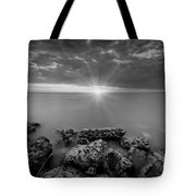 Sunset Bliss Bw Tote Bag