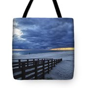 Sunset Boardwalk Tote Bag by Michael Thomas