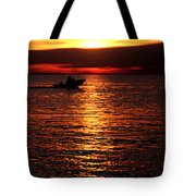 Sunset Boaters Tote Bag