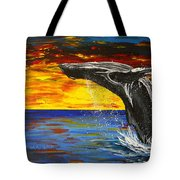 Sunset Breach Tote Bag
