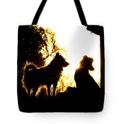 Sunset Buddies Tote Bag