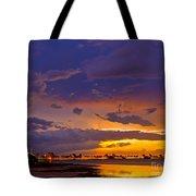 Sunset By Causeway Bridge Tote Bag