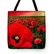 Sunset California Poppy Preserve Tote Bag