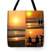 Sunset - Orange Beach Collage Tote Bag