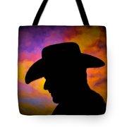 Sunset Cowboy Tote Bag