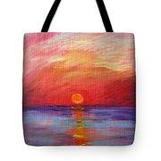 Sunset Delaware Bay Tote Bag