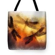Sunset Dragonflies Tote Bag