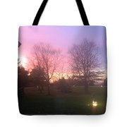 Sunset Elegant Fall Tree Show Skyview Resort Weekend Getaway To Poconos Pa America Usa Landscape Nav Tote Bag