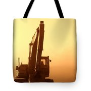 Sunset Excavator Tote Bag