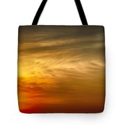 Sunset Feather Clouds Tote Bag