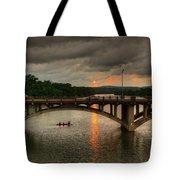 Sunset Fighting Through Tote Bag