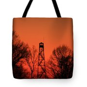 Sunset Fire Tower In Oconee County Tote Bag