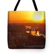 Sunset Florence Tote Bag