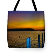 Sunset From Andersons Dock Tote Bag