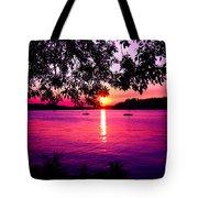 Sunset From Point Fosdick Gig Harbor Washington Tote Bag