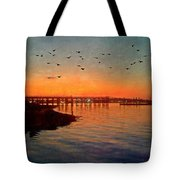 Sunset From Quincy Ma Tote Bag
