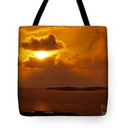 Sunset From The Dolphin Watch Cottage Tote Bag